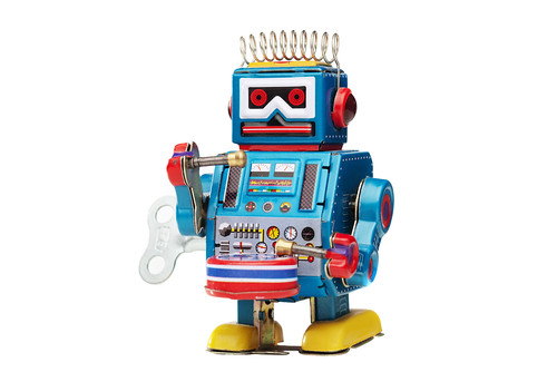 Retro Robot for Back to Basic Marketing