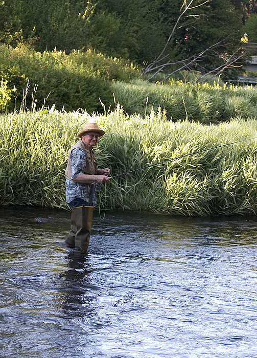 fishing on the Metolius