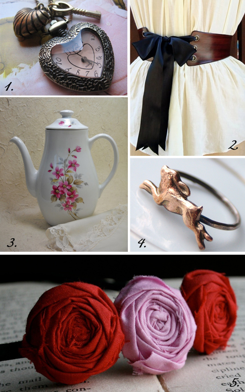 alice in wonderland inspired etsy finds