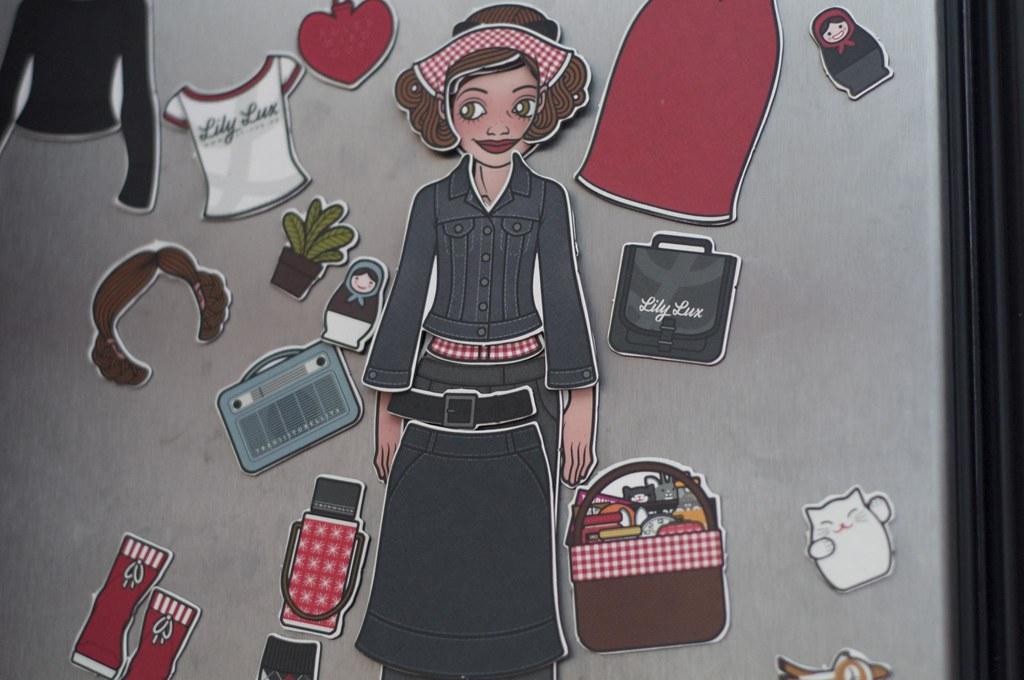 Foto der Lily Lux Kühlschrankmagneten von Iris Luckhaus