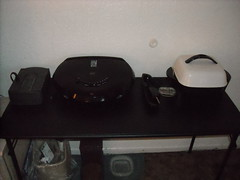 Foreman grill and electric skillet