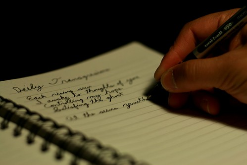 hand, pen, writing on notebook, notebook