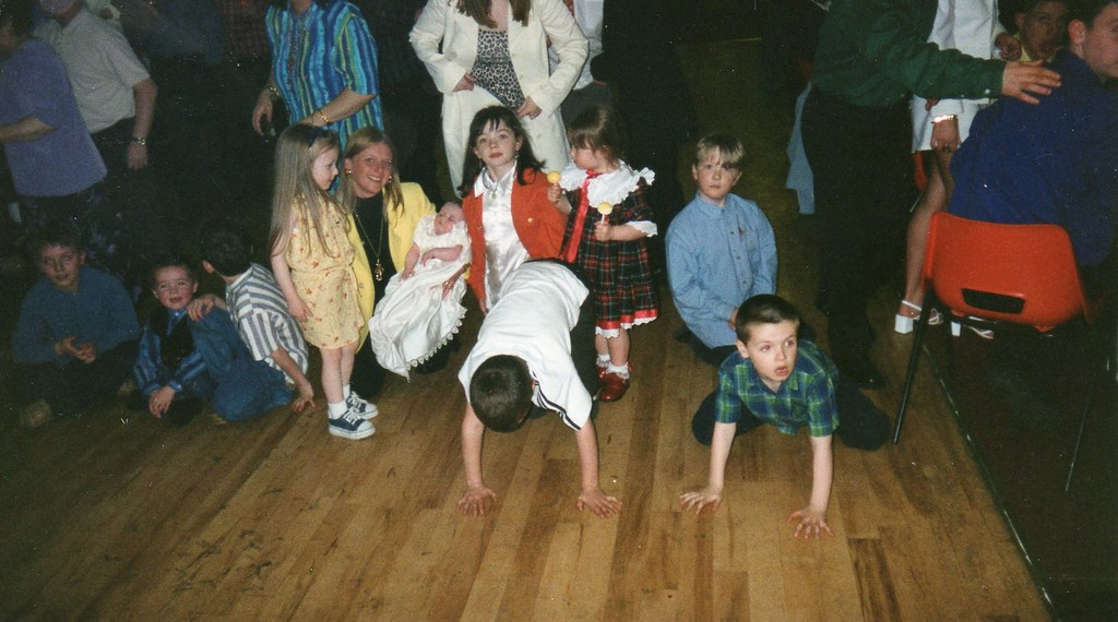 Hayley McGeachie's christening The G.E.S.H. Hall , Cranhill 1997