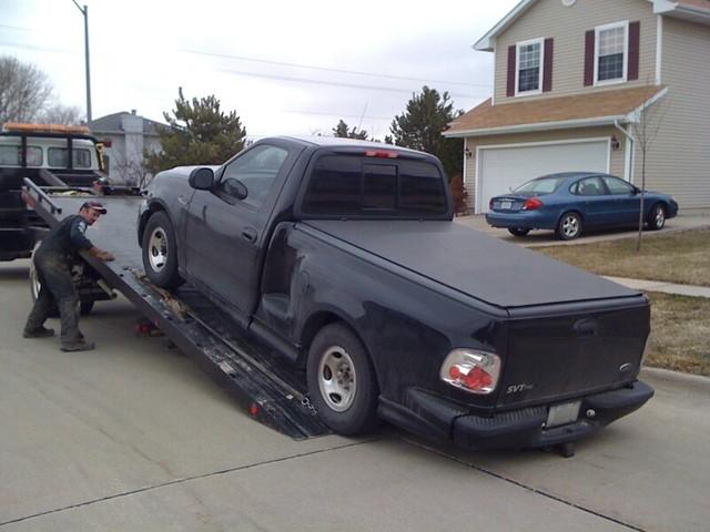 auto broken mobile truck 1999fordf150