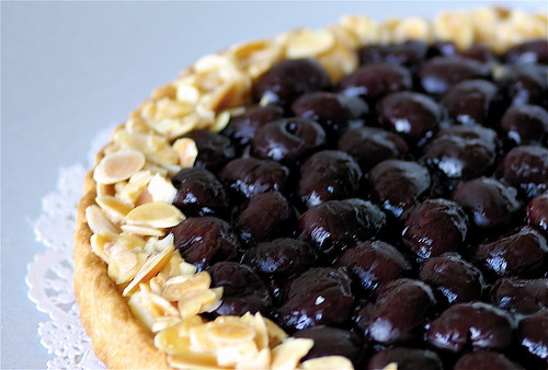 Sweet cherry tart