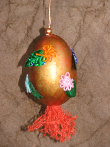 Metallic Easter Eggs Decorated 004
