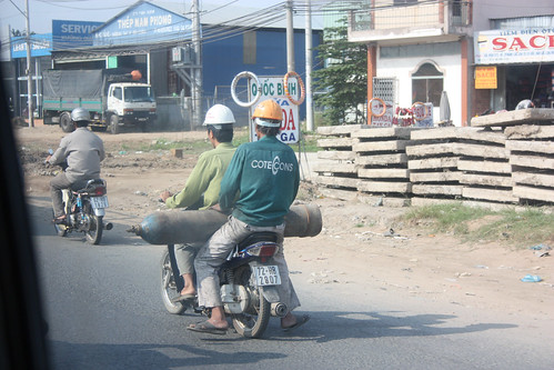 Gas tank on a scooter