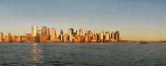 panorama a (Nesster) Tags: sunset panorama ferry jerseycity stitch asahi pentax takumar kodak dusk manhattan super 55mm 400 lower sv screwmount sightseer ultramax 5518 fromnj