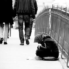 Waiting (bigmike.it) Tags: poverty life street bridge bw woman white black geotagged donna strada ponte bianco nero begging beg merano povert carit povera elemosina geo:lat=46669656 geo:lon=11161573 febbraio2011challengewinnercontest