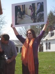 Protesting John Yoo
