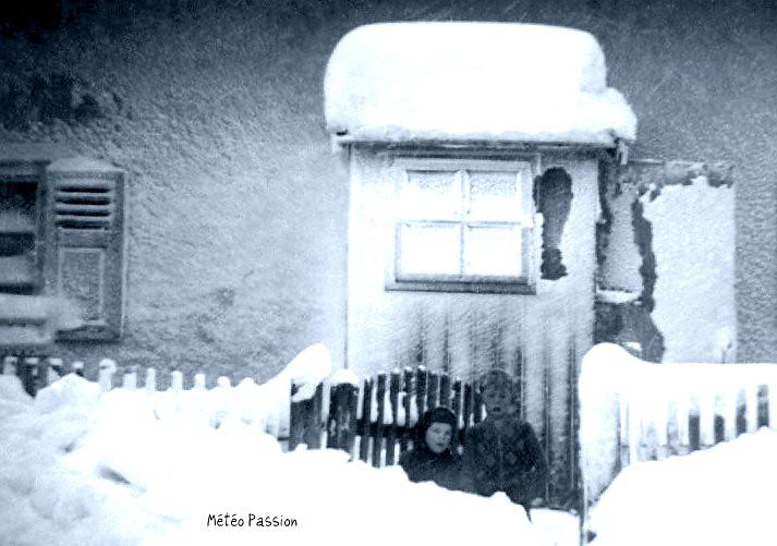 forte neige en Bavière mi janvier 1954