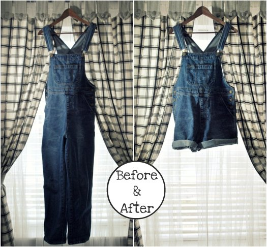 DIY Overalls to Shortalls