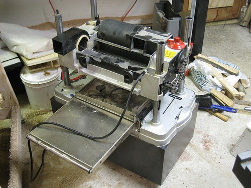 planer partially assembled