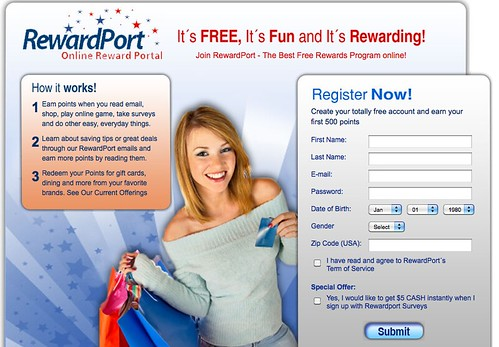 RewardPort Online Reward Portal