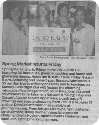 Spring Market/newspaper