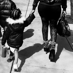 Mama (Lori Foxworth) Tags: blackandwhite highheels streetphotography motheranddaughter badonkadonk quotlorifoxworthquot quotlorifoxworthphotographyquot quotblackwhiteandrawquot quotyourdailycheesesteakquot
