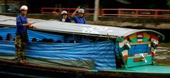 Klongboat Dudes (sherrattsam) Tags: road guy thailand boat asia bangkok guys dude toei klong thep toey krung petchbaburi