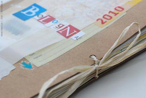 Travel sketchbook, Bologna, cover