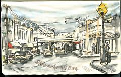 Sheepshead Bay in color. Brooklyn, NY. (Nik Ira) Tags: brooklyn ink sketch bijoubox