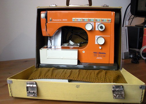 Orange Husqvarna Viking 6430 Sewing Machine