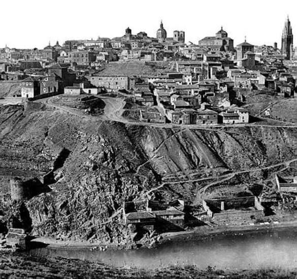 Toledo hacia 1860. Fotografía de Soulier