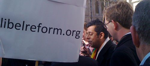 Simon Singh speaking after his appeal victory