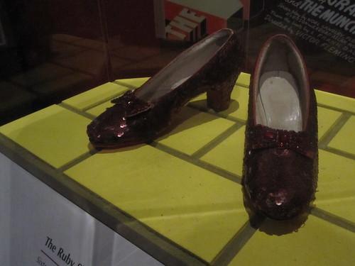 Dorothy's shoes from the wizard of Oz