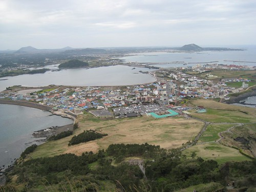 View of Jeju from Seongsan Ilchulbang after climbing up 30 minutes
