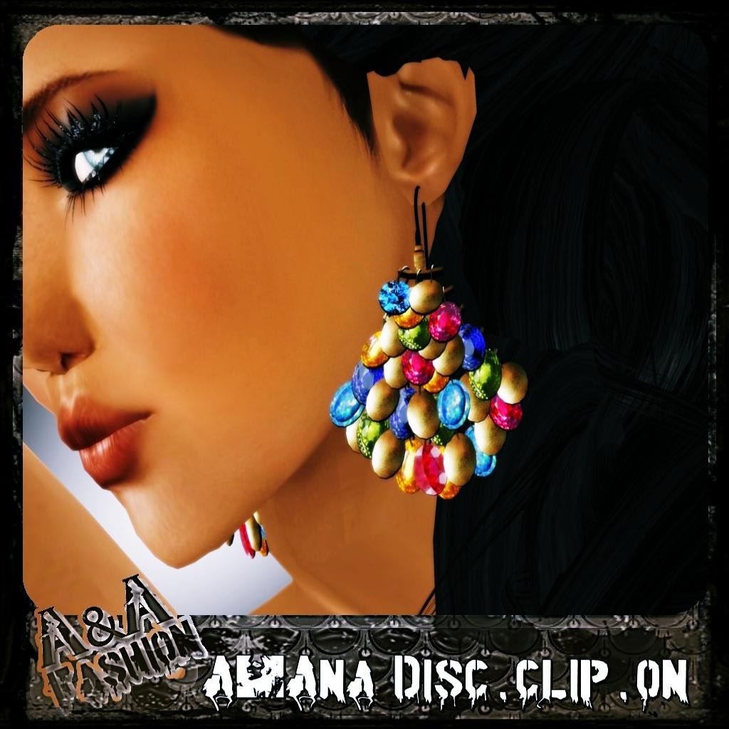 A&Ana Disc.Clip.on Earrings
