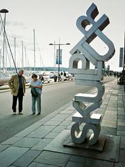 Schrift-Skulptur (Bundscherer) Tags: sculpture oslo norway typography norge norwegen skulptur type letter alphabet lettering helvetica typo schrift figures lettern buchstaben typographie typografie buchstabe