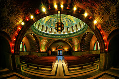 lakewood cemetery memorial chapel minneapolis (Dan Anderson.) Tags: art church minnesota architecture mosaic cemetary minneapolis chapel stainedglass fisheye funeral dome copper marble twincities mn hagiasophia byzantine lakecalhoun memorialchapel charleslamb historicplaces lakewoodcemetery harrywildjones lakewoodmemorialchapel