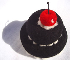 Felted Black Cake 2