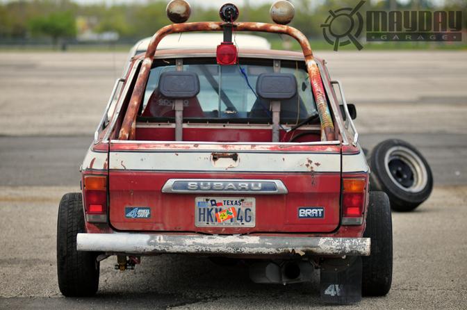 Derrick Rogers Frankenstein, 13B powered RWD Subaru car/truck. DD