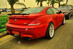 BMW-M6   in Riyadh (Tareq Abuhajjaj   Photography & Design) Tags: red cars sport photography design photo high nice top dream gear f1 turbo bmw manual carbon m6  v10  tareq     tareqmoon tareqdesign foiacar 6