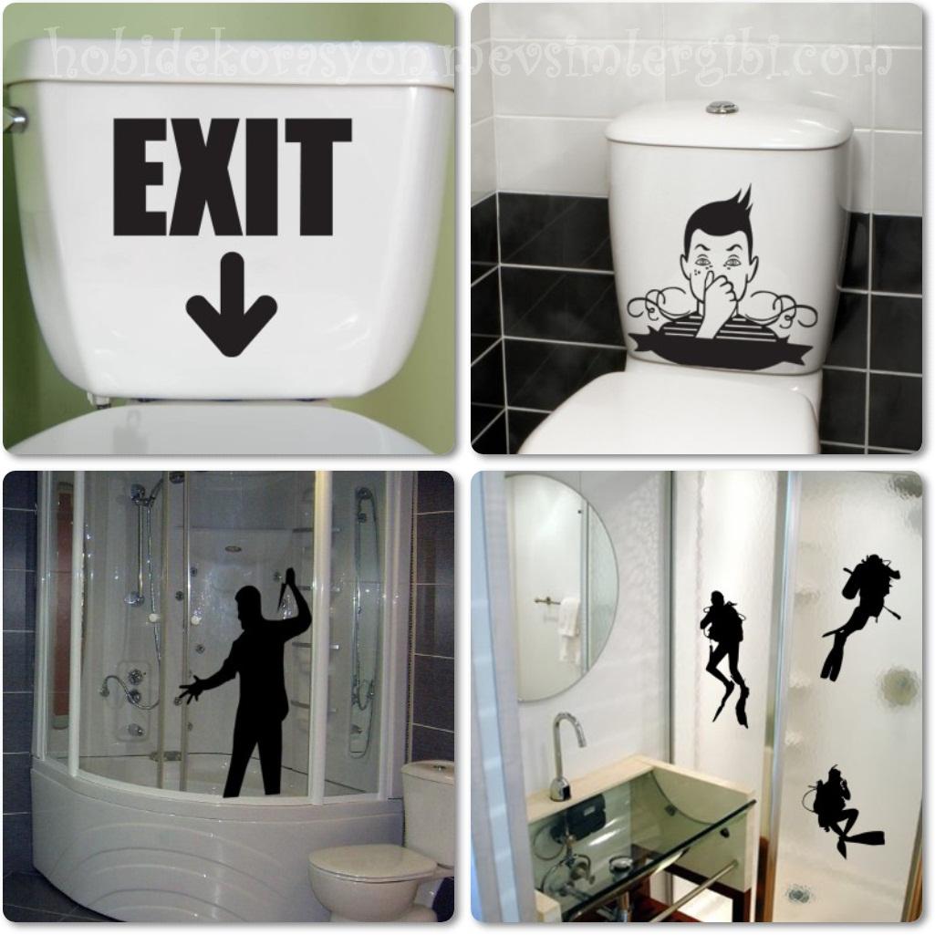 Fanch HomeArt Dekoratif Kapı Mutfak Buzdolabı Klozet Banyo Duş Duvar Stickerları