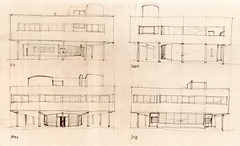 Villa Savoye Facades 2005 (Flaf) Tags: paris facade pencil 1931 drawing modernism moderne le florian elevation 1928 corbusier ansicht poissy afflerbach