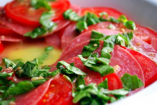 Tomato and Salami Salad