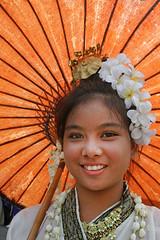 Smiling thai girl! (Bertrand Linet) Tags: umbrella thailand thailandgirl bertrandlinet