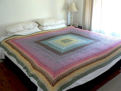 Forever Blanket (:Salihan) Tags: rainbow handmade crochet craft blanket colourful grannysquare organiccotton