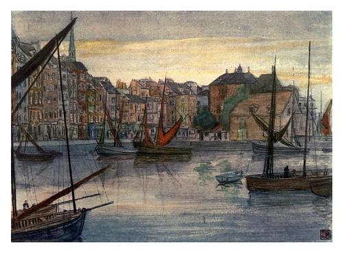 022- Muelle de Santa Catherine en Honfleur-Normandy-1905- Ilustrado por Nico Jugman