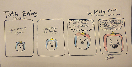 Tofu Baby comics by Madison County High School art class.
