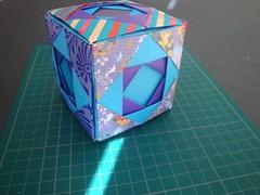 Double Stopper Cube -(Modular Origami) (Origami Tatsujin 折り紙) Tags: art colors paperart origami geometry multicolored papiroflexia papercraft polyhedra modularorigami geometricbeauty geometricart colorfulart
