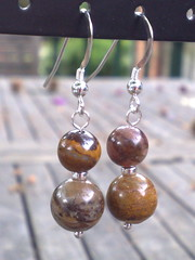 Jupiter jasper earrings