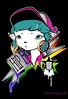 Poster Tur-Kitty (TURKESA (old profile)) Tags: color cat graffiti colorful turquoise kitty ring rings cap ear hiphop hip hop turquesa turkesa rabodiga