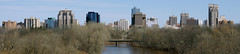 London Ontario skyline west (Mdrewe) Tags: city bridge trees urban ontario canada london tower thames skyline buildings river spring downtown apartments skyscrapers sony offices southwestern a700