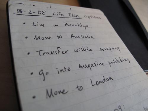 Life Plan options (2 Aug 2008)