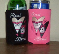 rosi and bride (The Koozie Floozie) Tags: style can sodabeer