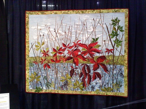 Red Weeds On Stricker's Pond by Susan Jackan