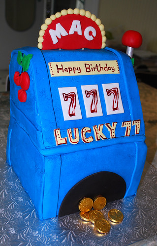 Slot Machine Cake by Ally Cake Designs