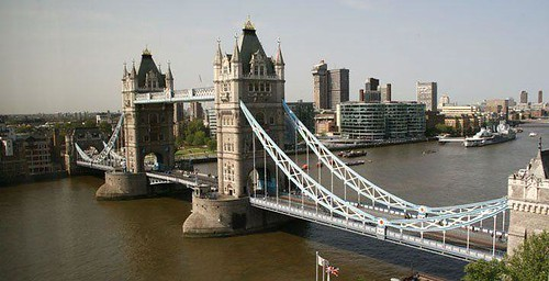 Tower Bridge & HMS Belfast from Tower Hotel